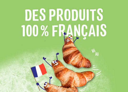 Des produits 100% français